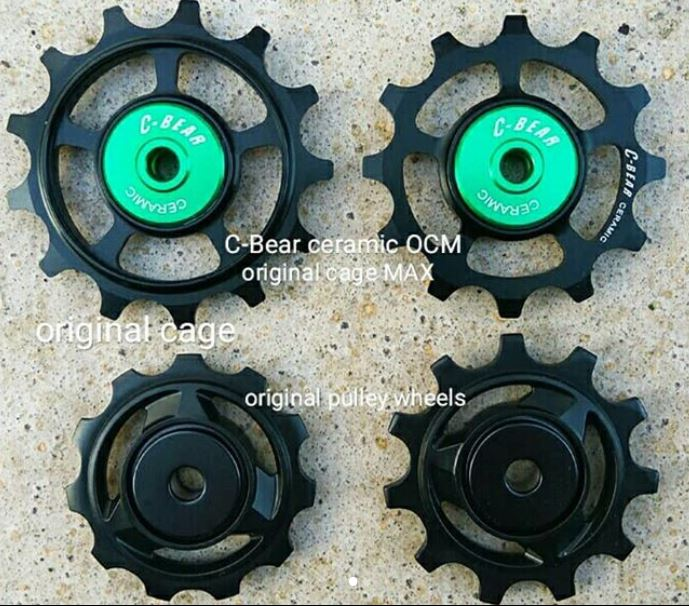 C-Bear ceramic OCM (original cage max) pulley wheels