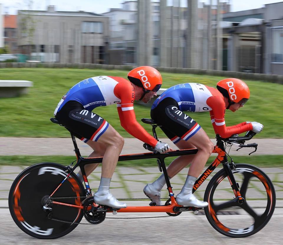 C-bear support stmatandem bike team to Rio