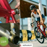 C-bear BSA GXP ceramic bb on Juliet Elliot's Hartley Bike