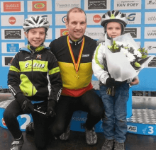 See Daddy in Belgium MTB championship outfit inspired son to join the same C-Bear MTB Team